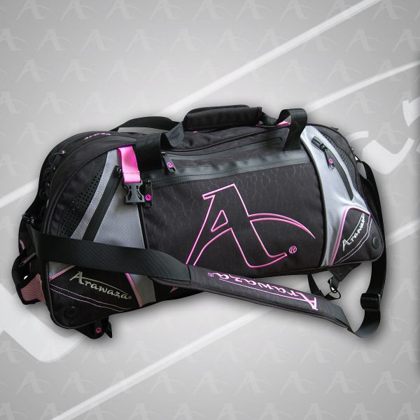 A pink Arawaza Technical Sports Backpack