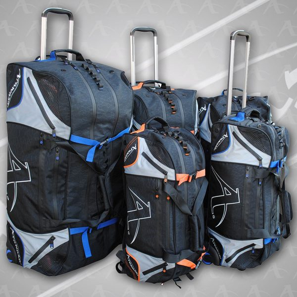 Display of the Arawaza technical sport bag family